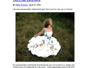 Eco Fashion Designer Tara Lynn makes wearable art, custom wedding dresses, and hemp clothing