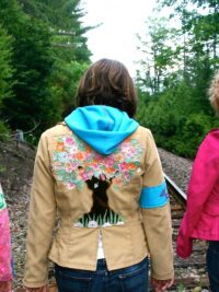 Earth Bitch jackets by tara lynn eco fashion natural clothing made in USA wearable art