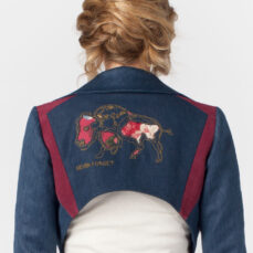 Bison Bolero Hemp and PET Denim Twill Tara Lynn Crop Jacket Eco Natural Clothing Wearable Art
