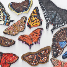Butterflies Embroidered Natural Clothing Wearable Art Eco Fashion Tara Lynn