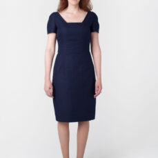 Mariposa Dress Back OP Hemp Organic Cotton Twill and Silk Tara Lynn Hemp Dress