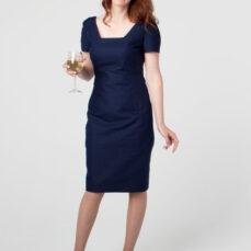 Mariposa Dress Back OP Hemp Organic Cotton Twill and Silk Tara Lynn Hemp Dress