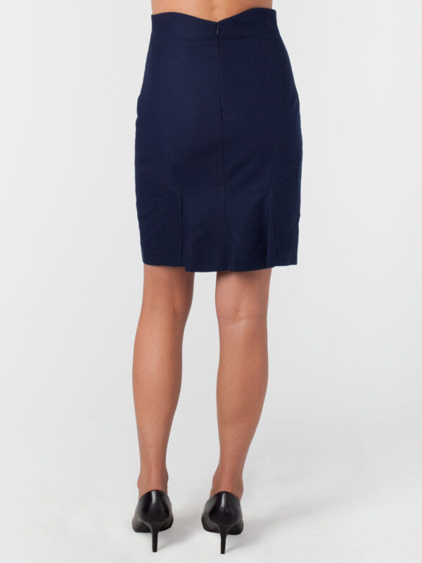 Navy Skirt Mariposa Skirt Back Hemp Organic Cotton Twill and Hemp Silk Tara Lynn Hemp High Waist Skirt