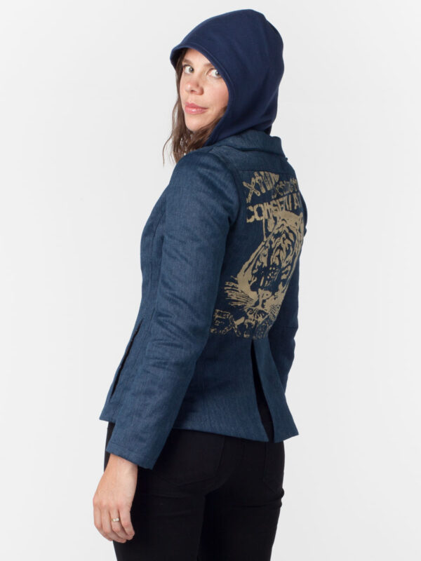 natural clothing eco fashion wearable art conservation wild cat jacket hemp