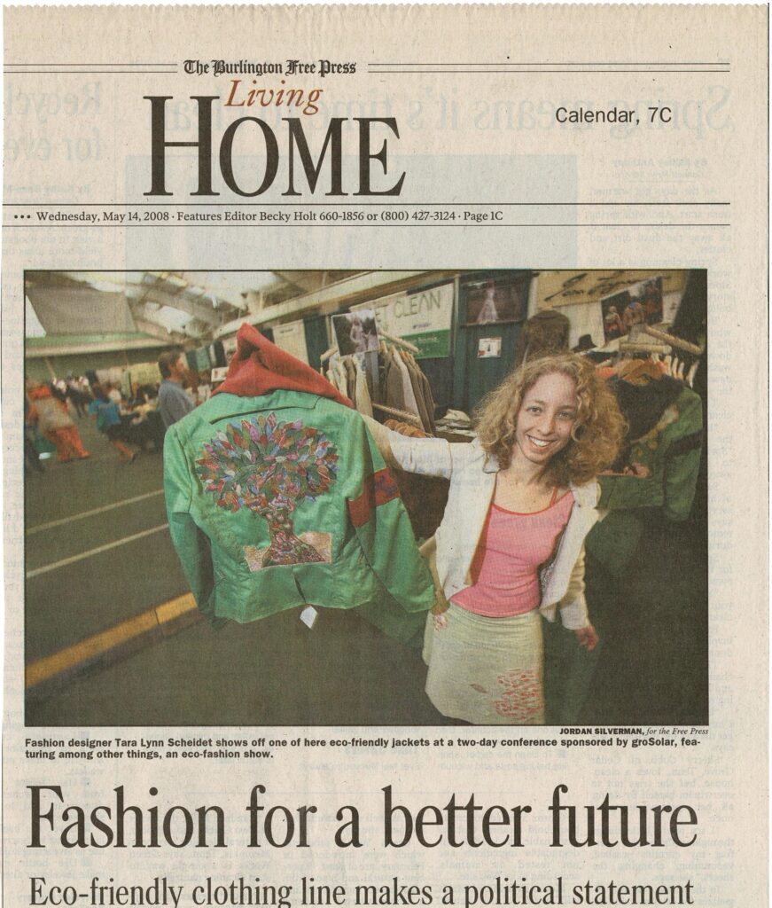 Fashion designer Tara Lynn designs wearable art eco-friendly jackets dedicated to endangered species.