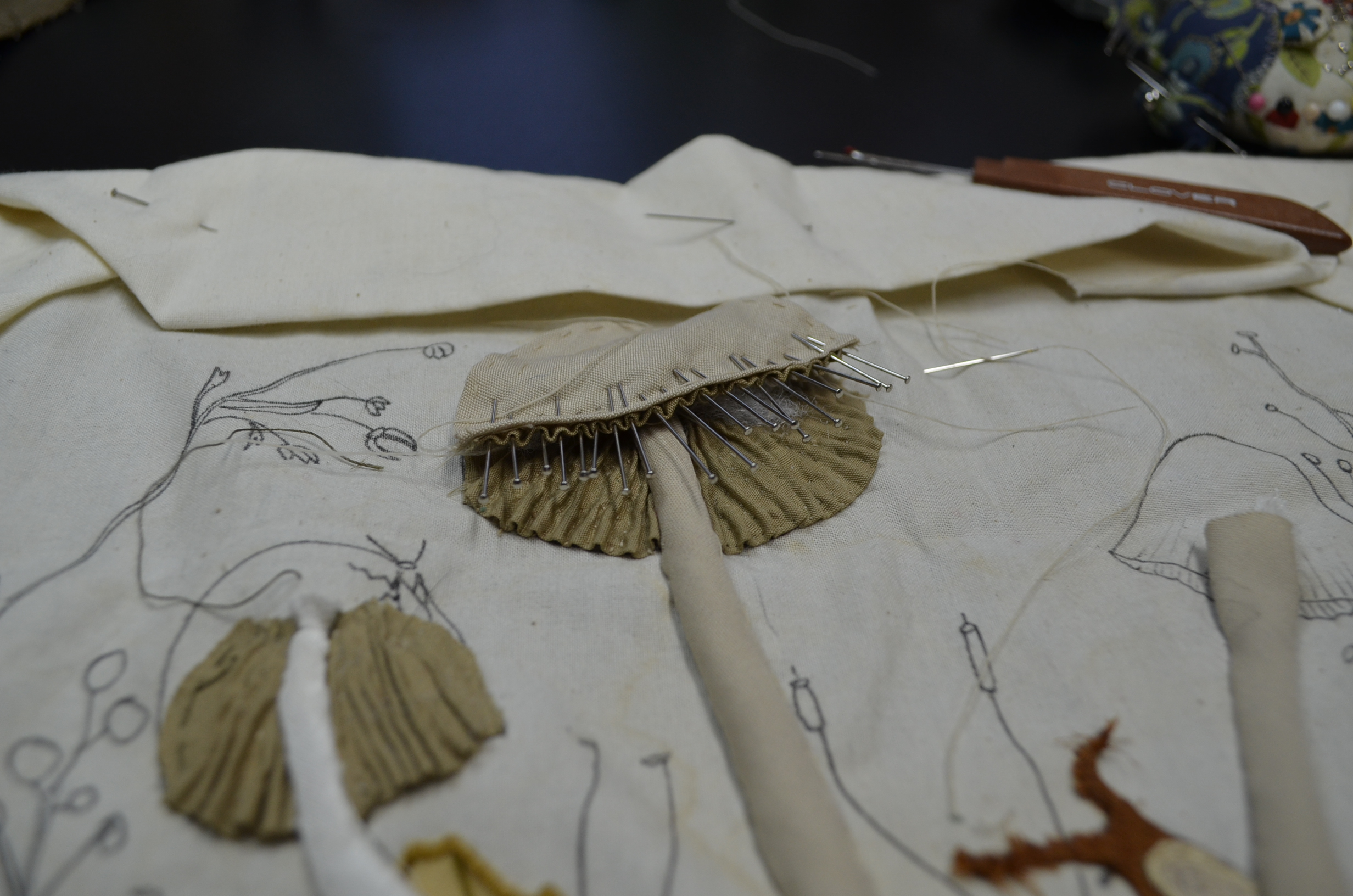 Mushroom cap gills